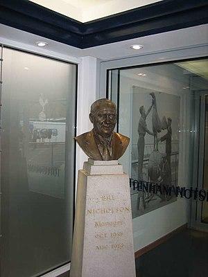 Bill Nicholson (footballer) - Bust of Nicholson at White Hart Lane