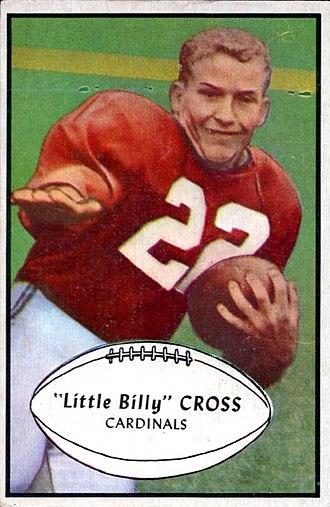 Billy Cross (American football) - Cross on a 1953 Bowman football card