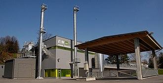 EVN Group - Image: Biomasseheizwerk Maria Gugging Aussenansicht
