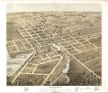 Bird's eye view of the city of Beaver Dam, Dodge Co., Wisconsin 1867. LOC 73694535.tif