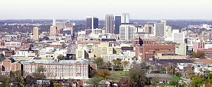 Central Alabama - Downtown Birmingham, the heart of Central Alabama's economic engine