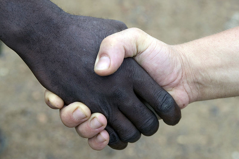 File:Black and white handshake MOD 45148076.jpg