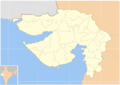 Blank Map Gujarat state and districts.png