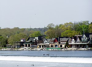 Rowing (sport) - Philadelphia's iconic Boathouse Row, Home of the Schuylkill Navy