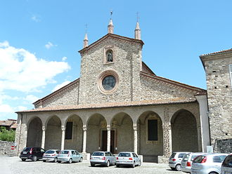Columbanus - Facade of the Abbey in Bobbio