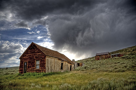 Bodie State Historical Park, California, USA Bodie Ghost Town Storm.jpg
