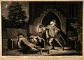 Bodysnatchers in a church cemetery disturbed by the braying Wellcome V0010462.jpg