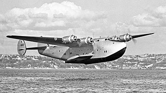 Boeing 314 Clipper - A Boeing 314 flying low
