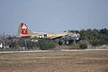 Boeing B-17G-85-DL Flying Fortress Nine-O-Nine Landing Approach 14 CFatKAM 09Feb2011 (14797314437).jpg