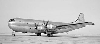 Boeing C-97 Stratofreighter - YC-97 Stratofreighter with the shorter fin and smaller engines of the B-29 in 1947