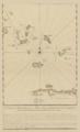 Boispineau, Carte du débouquement entre l'Isle de Kroo-ked et Samana, 1737.png