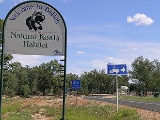 Bollon, Queensland - The entrance sign to Bollon