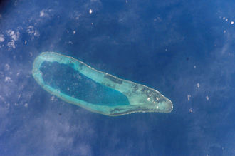 Bombay Reef - Bombay reef (Paracel islands) as viewed from the International space station