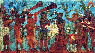 Mexican muralism - Mural from Bonampak.