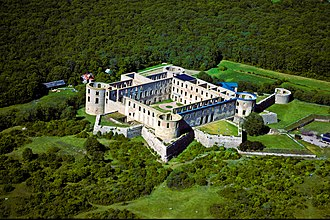 Looped square - Aerial view of Borgholm Castle