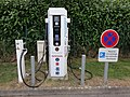 Borne electrique de recharge rapide de Morbihan Energies au Faouet (Morbihan).jpg