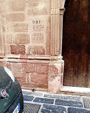 Dichlorodiphenyltrichloroethane - DDT spray log in Bosa (Sardinia)