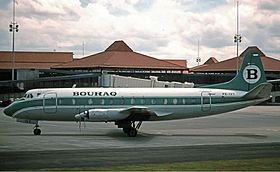 Bouraq Indonesia Airlines Vickers 843 Viscount King.jpg
