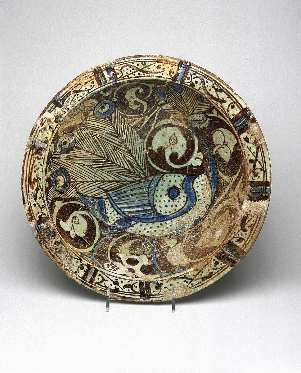 Bowl with Peacock Motif, ca. 1200–1230, 78.81