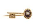 Bröstnål av guld i form av en nyckel med rubin och pärla, 1800-tal - Hallwylska museet - 110256.tif