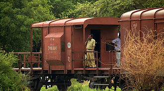 Brake van - Indian goods brake van with four wheels (BVZC)