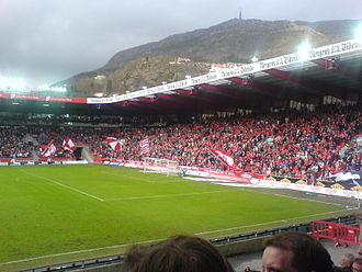 Eliteserien - A 2007 match at Brann Stadion between Brann and Strømsgodset.