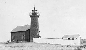 Brant Point Light - The 1856 tower is still standing. U.S.Coast Guard photo