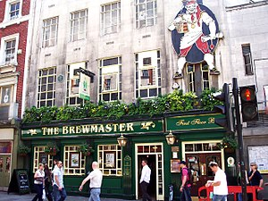 Cranbourn Street - The Brewmaster pub on Cranbourn Street