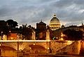 Bridge Vittorio Emanuele II at sunset.jpg