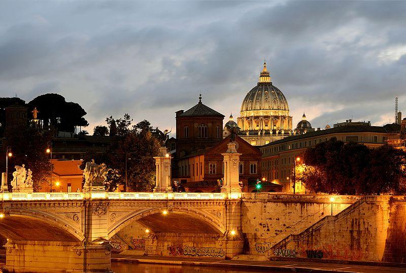 Bridge Vittorio Emanuele II at sunset.jpg