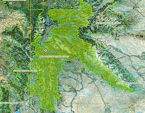 Bridger-Teton National Forest - Image: Bridgerteton map