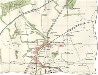 Bishopbriggs - Map of Bishopbriggs and adjacent villages, circa 1923
