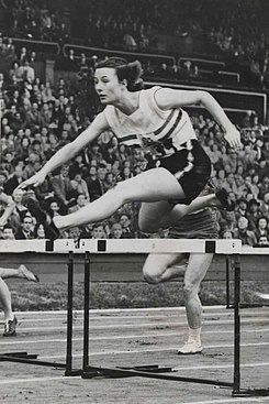 British Favourite, Maureen Gardner. Olympic Games, London, 1948.jpg