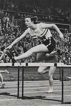 British favourite, maureen gardner. olympic games, london, 1948