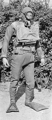 British navy frogman in 1945