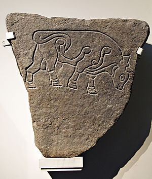 Burghead - Burghead Bull slab at the British Museum