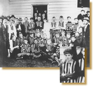 Victorian Football League - Brunswick during the early 1900s. The highlighted section in the bottom right-hand corner shows the future Australian Prime Minister John Curtin.