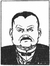Bude Budisavljević (karikatur) 1907 Hrvatska smotra.png