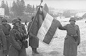 Bundesarchiv Bild 101I-141-1258-15, Russland-Mitte, Soldaten der französischen Legion, Fahne