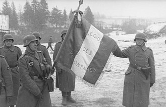 Collaboration with the Axis Powers during World War II - Nazi French soldiers in Russia, November 1941.