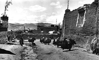 Town in Tibet Autonomous Region, People