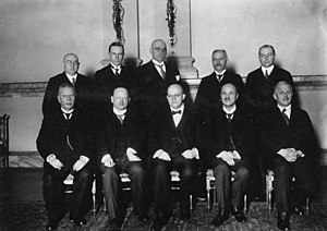 Centre Party (Germany) - Cabinet with Kanzler Wilhelm Marx, 1927