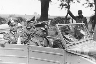 Battle of Aachen - Field Marshal Model visiting the 246th Volksgrenadier Division in Aachen