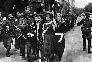 German occupation of Latvia during World War II - German soldiers enter Riga, July 1941