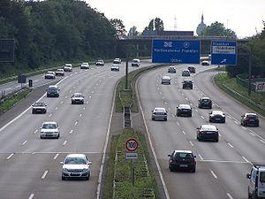 Bundesautobahn 66 an der Anschlussstelle Ludwi...