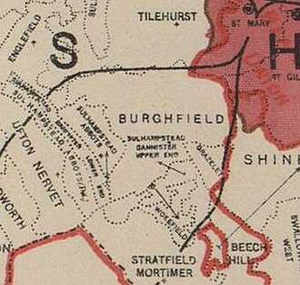 Burghfield - 1888 Ordnance Survey Parish Boundary Map