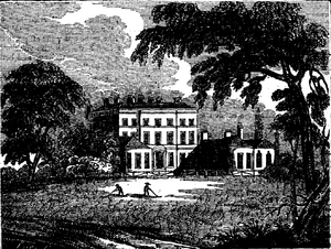 Bushy House - Bushy House from an 1827 book illustration