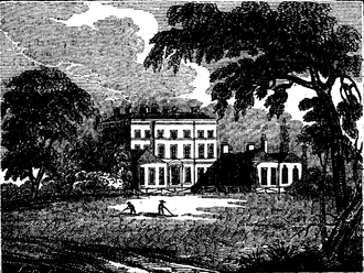 George Montagu, 1st Earl of Halifax - Bushy House from an 1827 book illustration