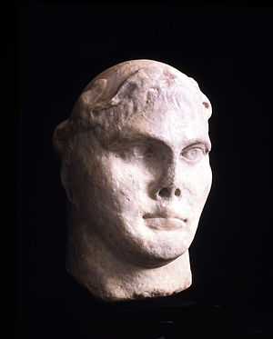 Eboracum - Marble bust of Constantine the Great from Stonegate, York