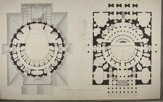 Theater in Roman Style, two Floor Plans